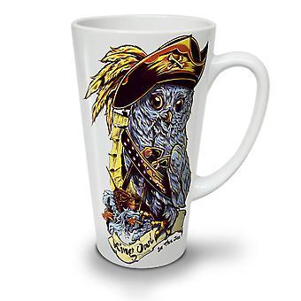 Owl Pirate NEW White Tea Coffee Ceramic Latte Mug 17 oz   Wellcoda
