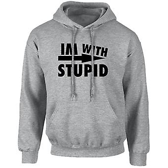I'm With Stupid Funny Unisex Hoodie 10 Colours (S-5XL) by swagwear