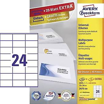 Avery-Zweckform 3475-200 Labels (A4) 70 x 36 mm Paper