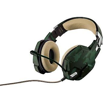 Gaming headset 3.5 mm jack Corded, Stereo Trust GXT 322C Over-the-ear Green, Camouflage
