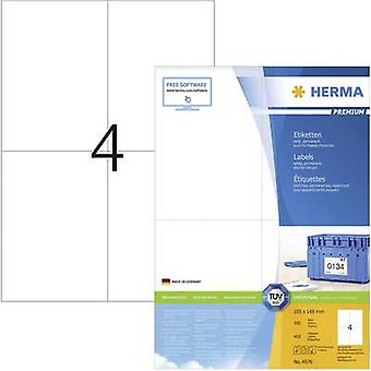 Herma 4676 Labels (A4) 105 x 148 mm Paper White