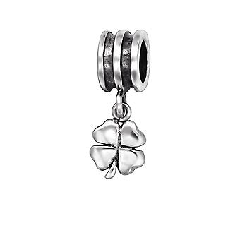 Clover - 925 Sterling Silver Plain Beads - W29559x