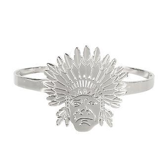 Kvinna Chief indiska stål silver ring armband