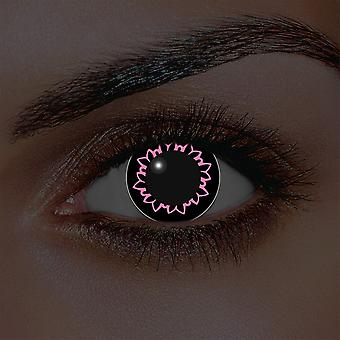 i-Glow Pink Butterfly Contact Lenses (Pair)
