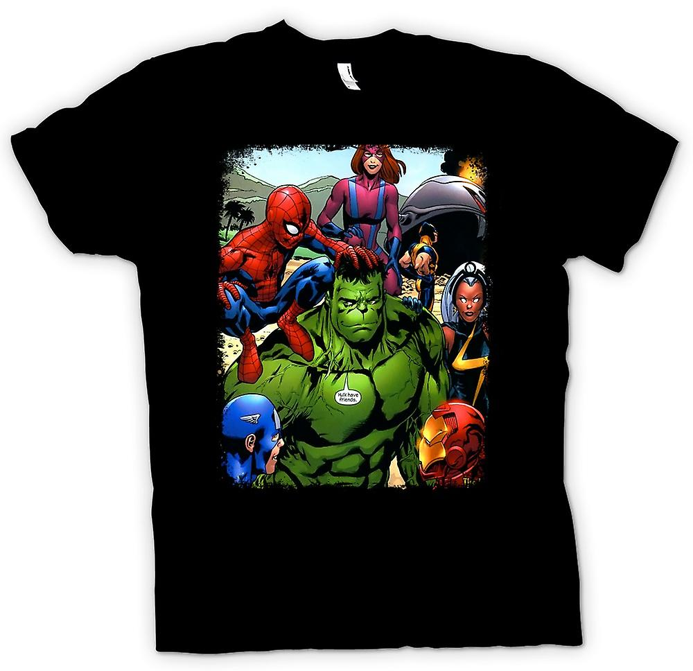 Kinder T-shirt-Hulk Spiderman Eisenmann