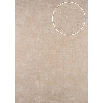 Uni wallpaper ATLAS CLA-601-5 non-woven wallpaper smooth in the used look shimmering beige beige grey perl white 5.33 m2