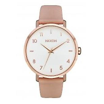 Nixon The Arrow Leather Rose Gold / Light Pink (A1091-3027)