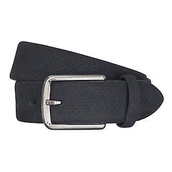 LLOYD Men's belt belts men's belts leather belt suede Navy/Blue 5042