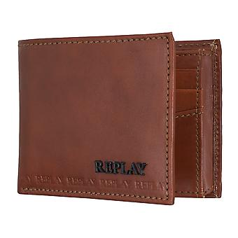REPLAY purse coin purse wallet Leather Brown 5080
