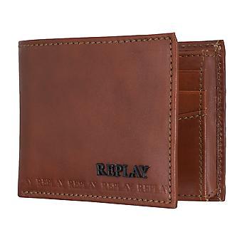 REPLAY handväska coin purse wallet läder brun 5080