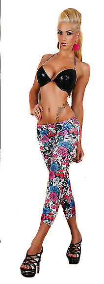 Waooh - Fashion - Leggings 3/4 & white printed tattoo