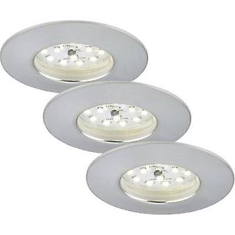 LED bathroom recessed light 3-piece set 15 W Warm white EEC: LED (A++ - E) Briloner 7204-039 Aluminium