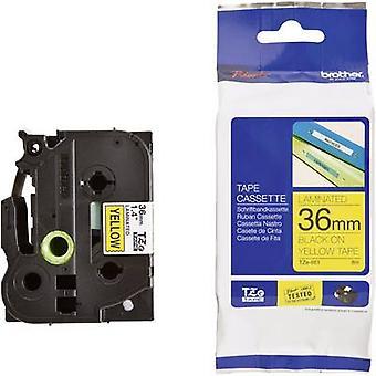 Labelling tape Brother TZe, TZ TZe-661 Tape colour: Yellow Font colour:Black 36 mm 8 m