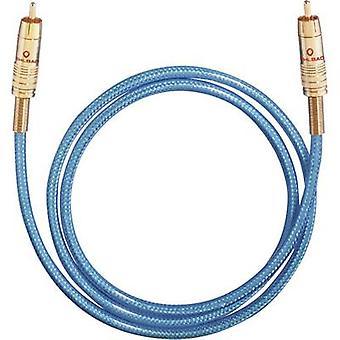 Oehlbach RCA digitalt Digital Audio kabel [1 x RCA-kontakt (phono) - 1 RCA plugg (phono)] 2 m blå
