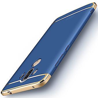 Telefon komórkowy etui dla Huawei mate 10 Pro zderzak 3 w 1 pokrywa chrom blue