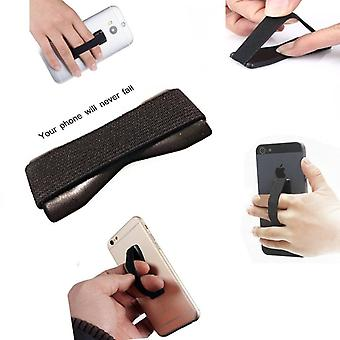 ONX3 (Black) Huawei Honor 8 Lite Universal Anti-Slip Elastic Finger Mobile Phone Grip Holder With Strong Adhesive