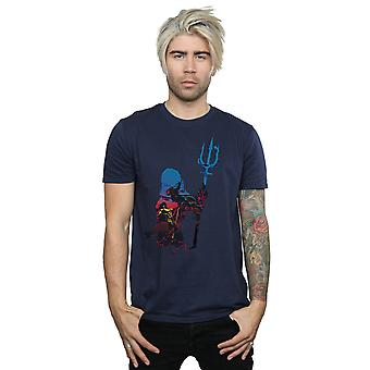 DC Comics Men's Aquaman Battle Silhouette T-Shirt