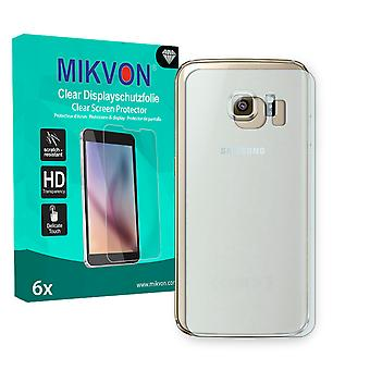 Samsung Galaxy S6 Edge reverse Screen Protector - Mikvon Clear (Retail Package with accessories) (intentionally smaller than the display due to its curved surface)