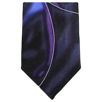 Knightsbridge Neckwear Water Swirl Pattern Tie - Navy/Purple