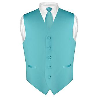 Männer Kleid Weste & Skinny Krawatte einfarbig 2,5