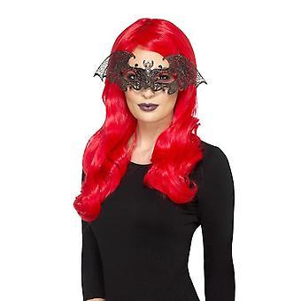 Metal Filigree Bat Eyemask, Black