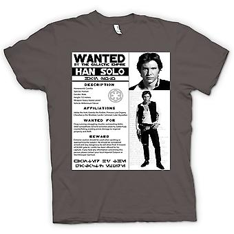 Kids T-shirt - Star Wars Han Solo Wanted - Poster