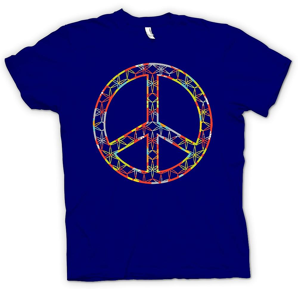 Mens T-shirt - Floral Peace Sign - CND