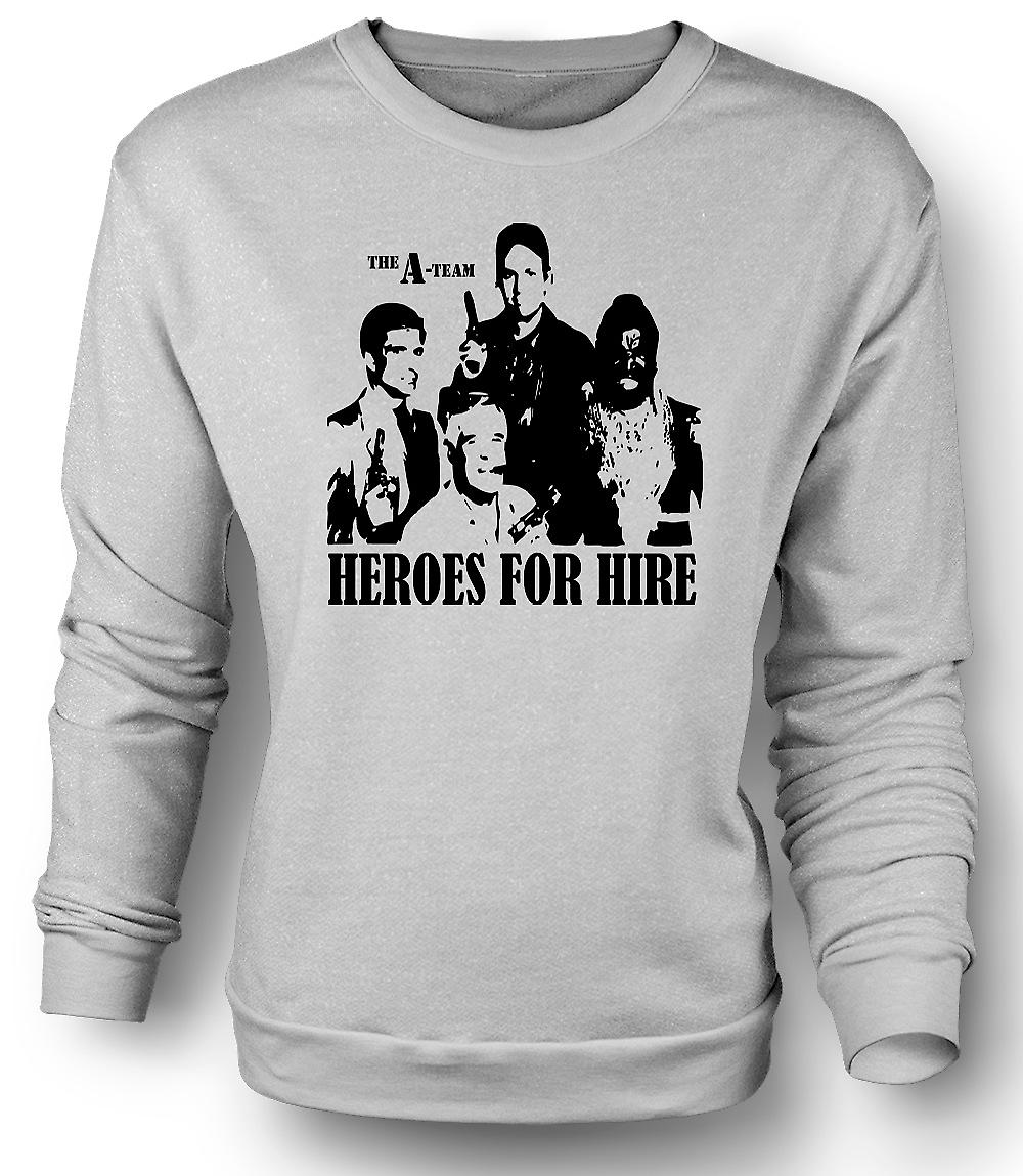 Mens Sweatshirt A Team helden - Retro - film 0s - Tv