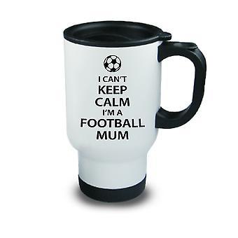 Jag kan inte hålla lugn jag är en fotboll mamma metall Travel mugg