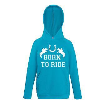 Nacido a caballo de paseo zapato azul zafiro con capucha
