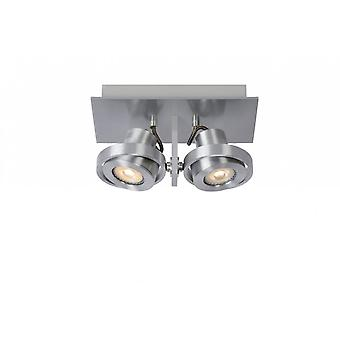 lucide Landa moderno retangular alumínio cetim cromo teto Spot de luz