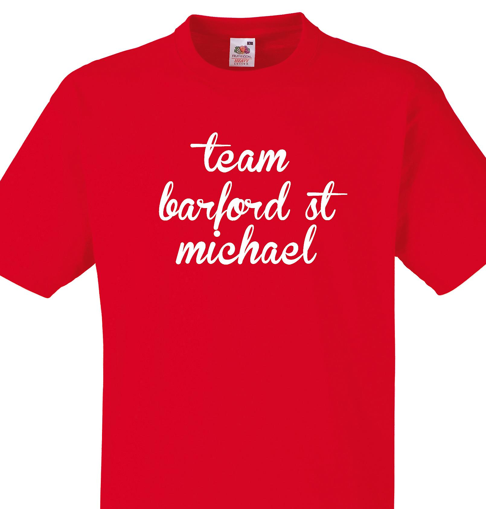 Team Barford st michael Red T shirt