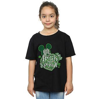 Disney Girls Mickey Mouse Shamrock Pizza T-Shirt