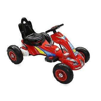 RideonToys4u 6V Electric Go Kart With Air Rubber Wheels 3KM/H Red Ages 3-8 Years