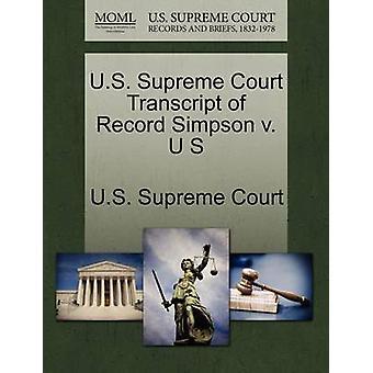 E.U. Supremo Tribunal transcrição de gravar Simpson v. U S pela Suprema Corte dos EUA