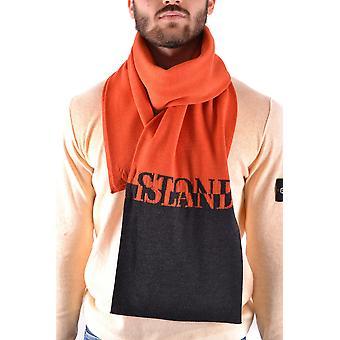 Stone Island Orange Wool Scarf