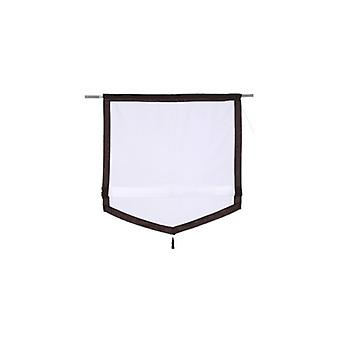 my home Roman shade semi transparent curtain in natural linen look white