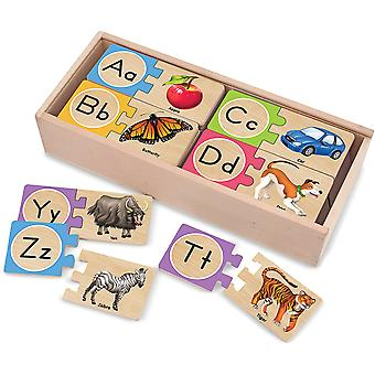 Self-Correcting Letter Jigsaw Puzzles