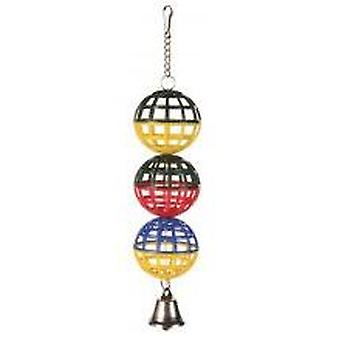 Trixie Lattice Balls with chain and bell for Birds (Birds , Toys)