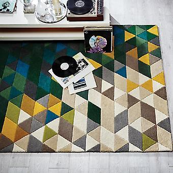 Rugs -Illusion Prism - Green & Multi