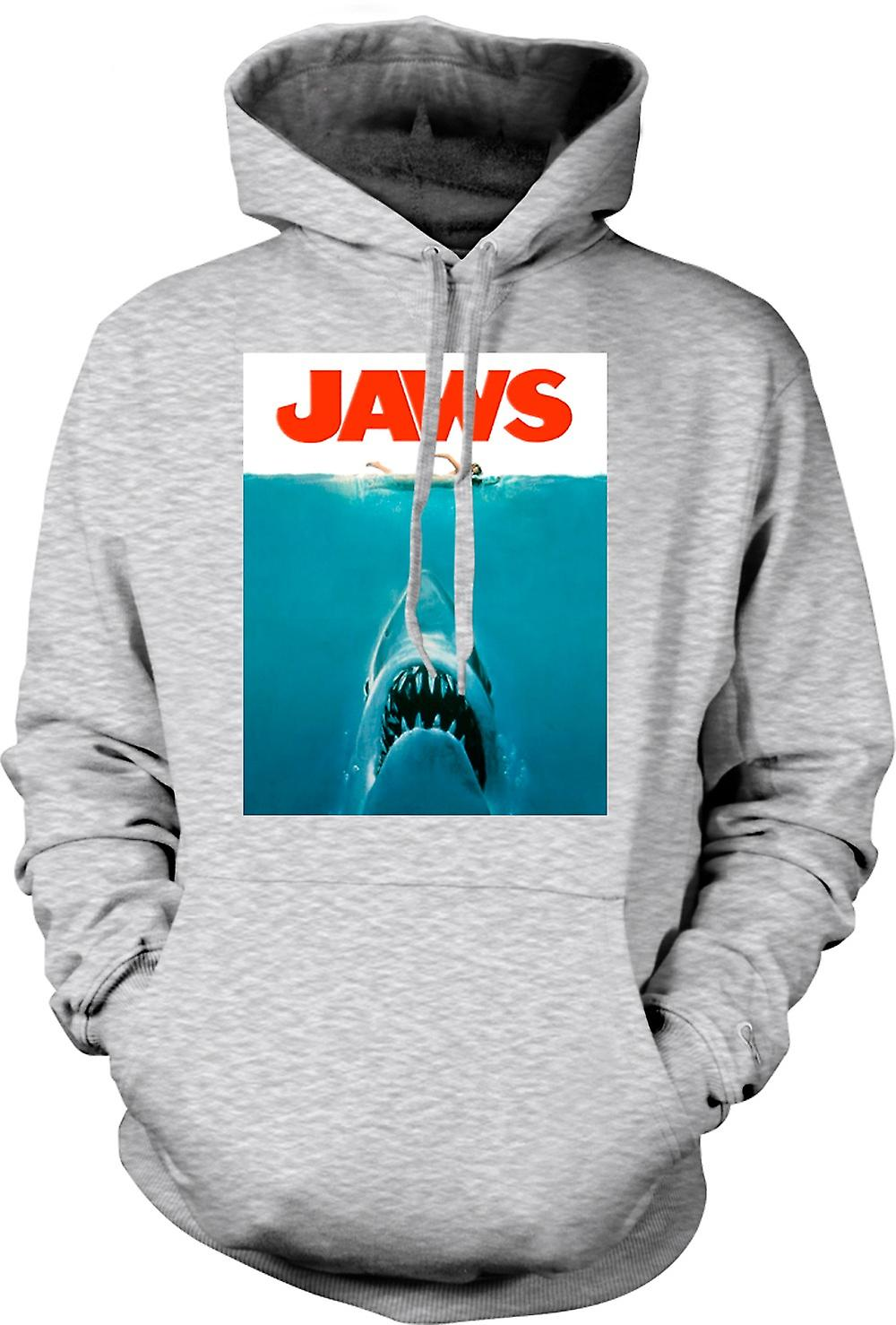 Mens Hoodie - Jaws haj