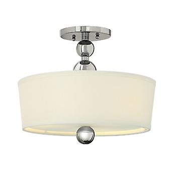 Zelda 3lt Semi-Flush Nickel poliert