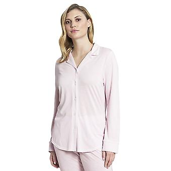 Rosch 1193717-14706 Women's Pure Pink Minimal Print Cotton Pyjama Top