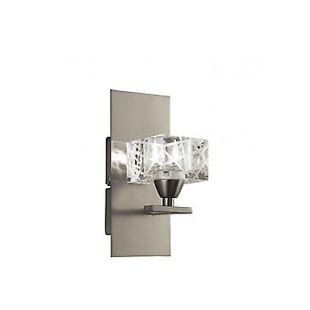 Mantra Zen Wall Lamp Switched 1 Light G9, Satin Nickel