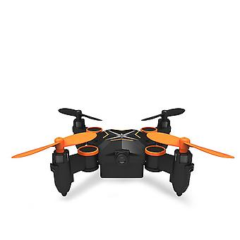 Folding four axis aerial photography mini drone aircraft toy - standard version (orange)