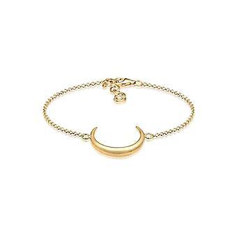 Elli Gelb gold vergoldet Damen Armband - Mond