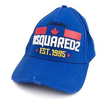 Dsquared2 Keeping It Real Baseball Cap Royal Blue