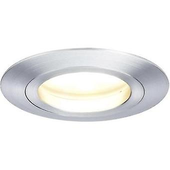 LED flush mount light 7 W Warm white Paulmann Coin 92824 Aluminium