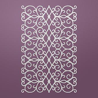 Ultimate Crafts Background Gallery Die-Floral Lattice, 4.3