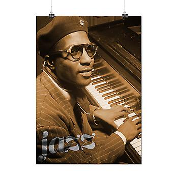 Matte or Glossy Poster with Thelonious Monk Celebrity Melody Tune | Wellcoda | *q1441